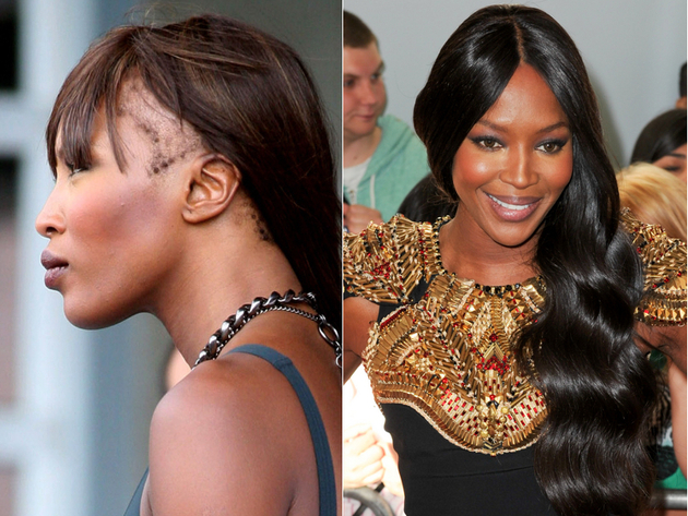 Celebrities without weaves hair tohair pmusecretfo Choice Image